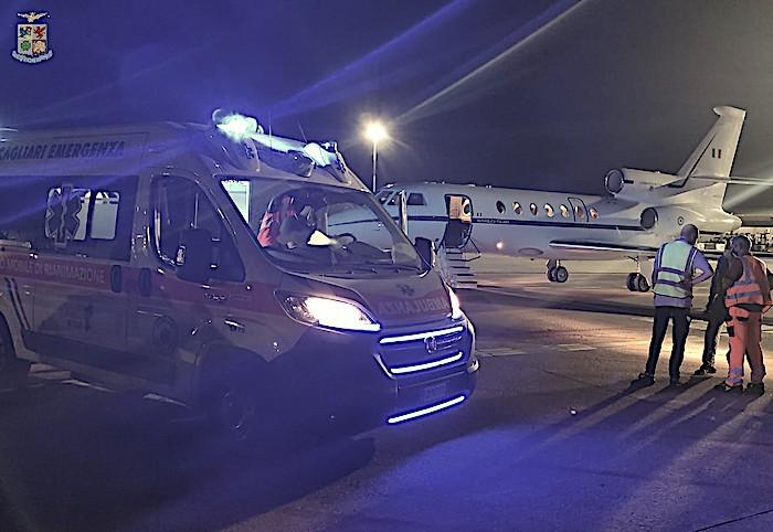 Volo ambulanza dell'AM: neonato trasportato d'urgenza la notte scorsa da Cagliari a Ciampino