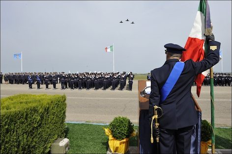 Il giuramento degli allievi del 15° corso della Scuola Marescialli di Viterbo (foto Aeronautica.difesa)