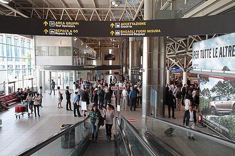 L'area imbarchi dell'Aeroporto G.Marconi di Bologna (foto Aeroporto Marconi Bologna)