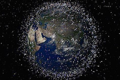 Frammenti nello spazio attorno alla terra (foto A.S.I.)