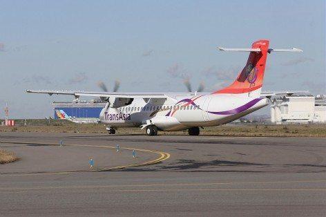 Un TransAsia ATR 72-600 inrullaggioall'aeroporto di Blagnac di Tolosa (Foto: ATR)
