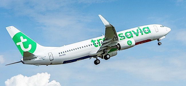 Transavia TAV-YT196 737-800 Delivery Ribbon Cutting and Flyaway