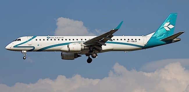 Air Dolomiti Embraer 195 (foto: Davide Olivati - Wikimedia Commons)