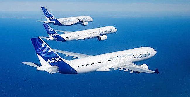 Airbus_Family_flight_A330_A350_XWB_A380_foto airbus F. Lancelot