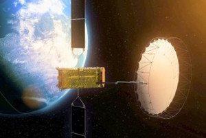 Alphasat in orbita attorno alla Terra foto ASI)