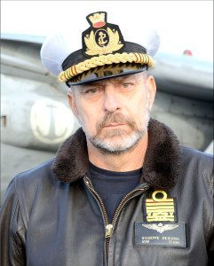 Il Capo di Stato Maggiore della Marina, Ammiraglio Giuseppe De Giorgi,