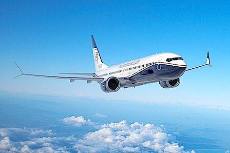 Il BBJ MAX 9 di Boeing (foto Boeing)
