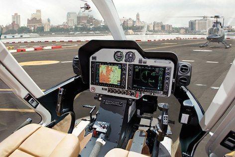 Il cockpit del Bell 407GXp (foto Bell Aviation - Textron)