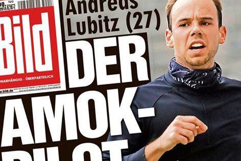 Andreas Lubitz in prima pagina sul Bild
