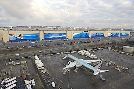 La fabbrica Boeing di Everett, Washington (foto Boeing)