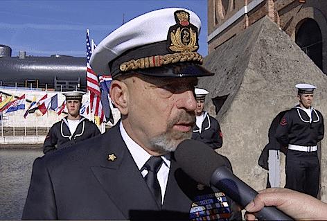 Il Capo di Stato Maggiore della Marina Ammiraglio di Squadra Giuseppe De Giorgi (immagine video Marina Militare)