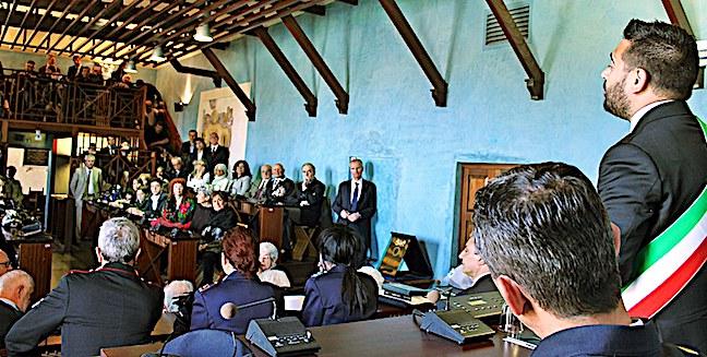 Cerimonia in Rocca con i familiari delle due MOVM lughesi (2)