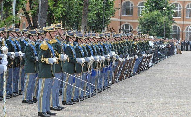 Cerimonia militare anniversario GdF