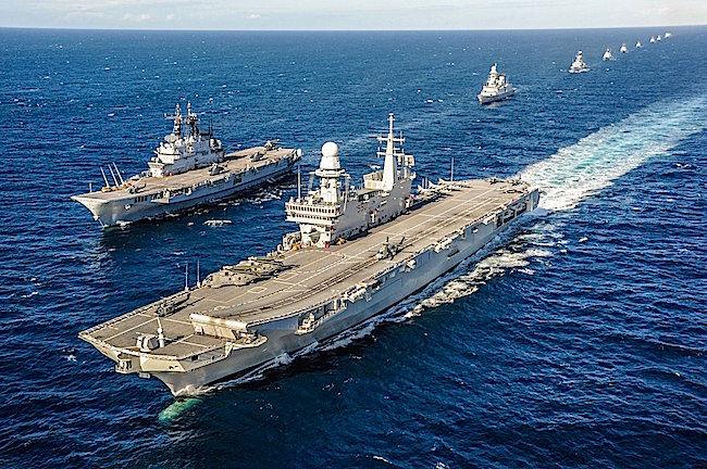 Marina militare conclusa l esercitazione anfibia emerald - Cavour portaerei ...
