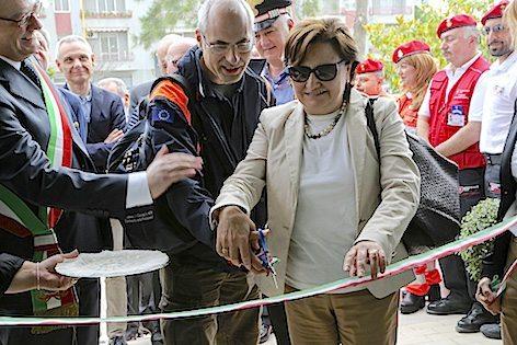 Il Capo Dipartimento della Protezione Civile Fabrizio Curcio durante l'inaugurazione (foto Protezione Civile)