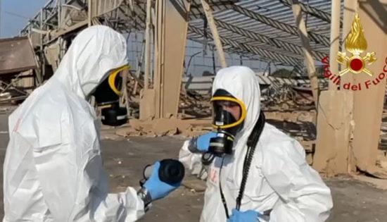 Missione di soccorso in Libano. Prosegue il lavoro del team dei Vigili del Fuoco italiani