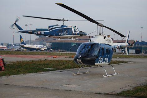 L'elicottero in corto finale