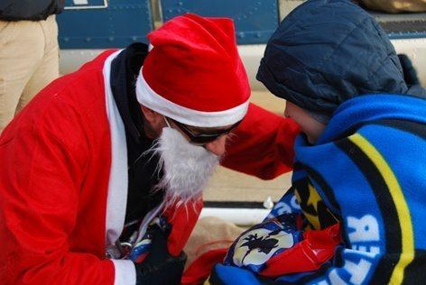 Babbo Natale  con giovani ospiti