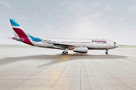 La nuova Eurowings (grafica Germanwings)