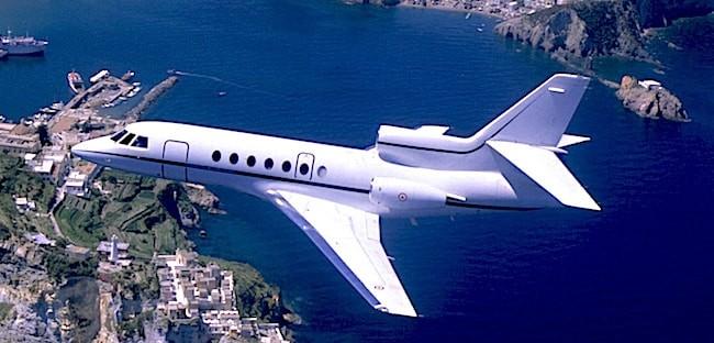 Falcon50 in volo