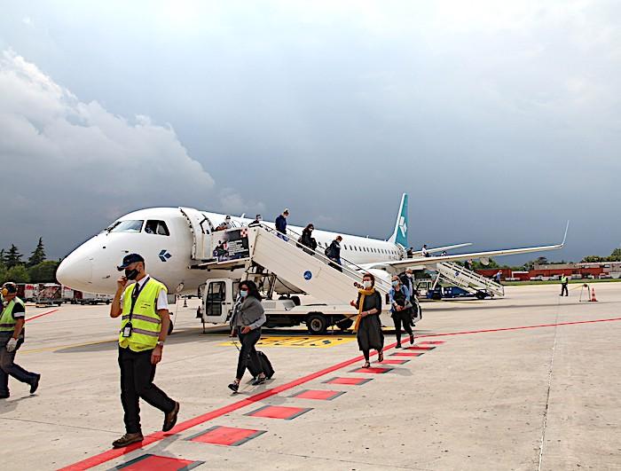 Aeroporto di Bologna: atterrato oggi il primo volo da Francoforte dopo il lockdown