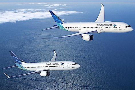 737 MAX 8 della garuda Indonesia (foto Boeing)