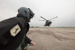 HH-101 nella fase di decollo