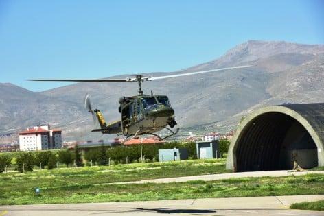 HH212 Tiger durante un sorvolo  sull'aeroporto militare di Konya (foto A.M.)