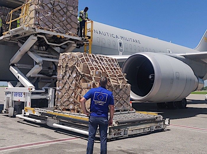 Difesa, Haiti: velivolo dell'Aeronautica Militare trasporta aiuti umanitari alla popolazione colpita da terremoto