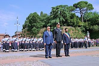 Il sindaco Ranalli con il prefetto di Ravenna e il sottocapo di Stato Maggiore