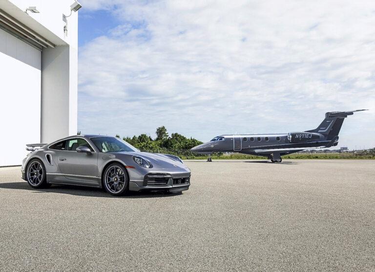"""Embraer e Porsche realizzano """"Duet"""" un abbinamento esclusivo per businessmen"""