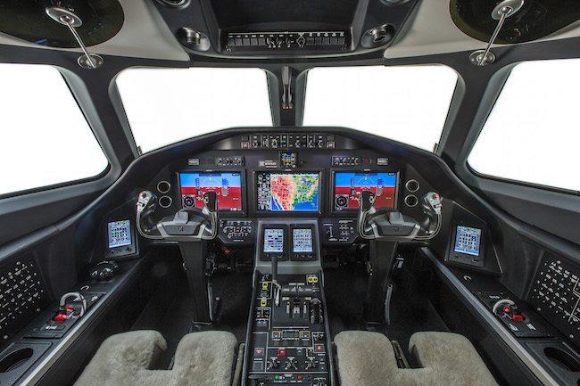 Il cockpit del Cessna  Citation Latitude (foto Cessna Aviation - Textron)