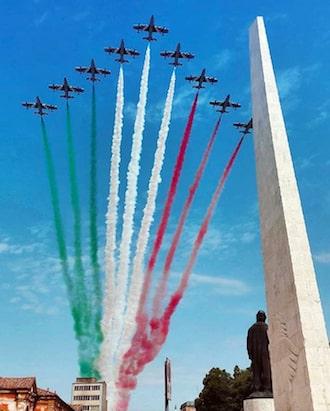 Le Frecce Tricolori sorvolano Lugo, 19 giugno 2018