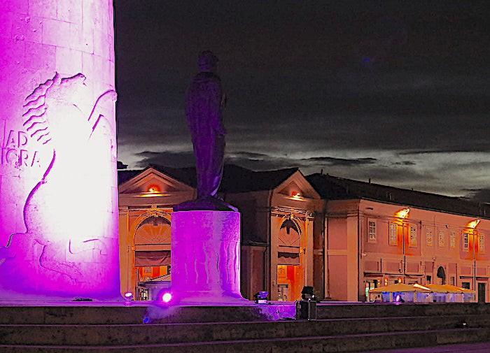 A Lugo di Romagna, l'Ala di Francesco Baracca si è tinta di lilla