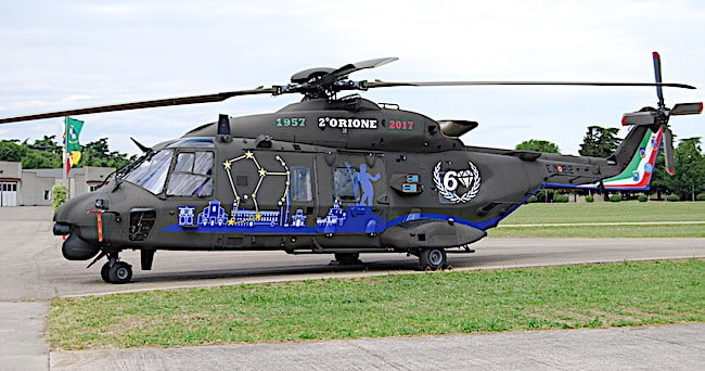 NH-90 sp color presentato per il sessantennale