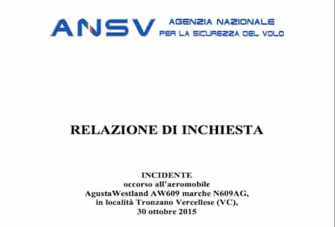 Relazione inchiesta AW609