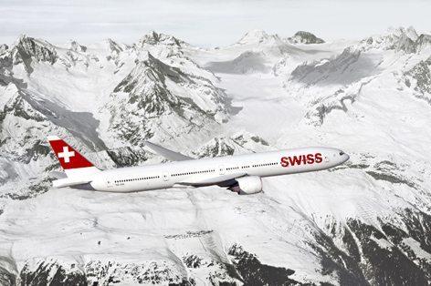 Il 777-300ERs della Swiss (PRNews foto-Boeing)