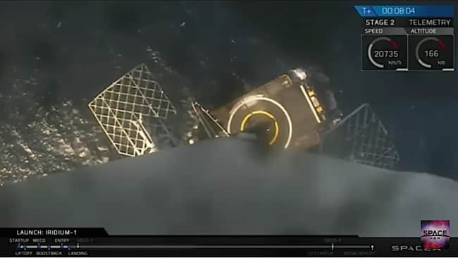 SpaceX video land