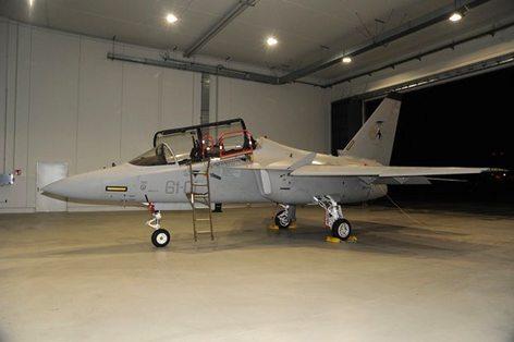 Il nuovo addestratore avanzato T-346A del 61° Stormo (foto Aeronautica Militare)