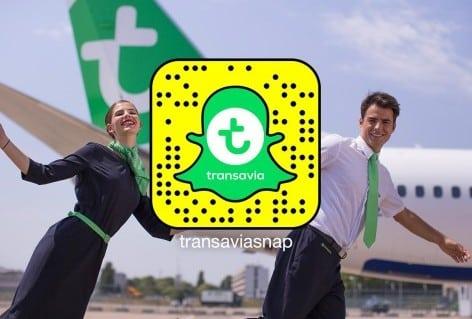 Transavia introduces Snapchat