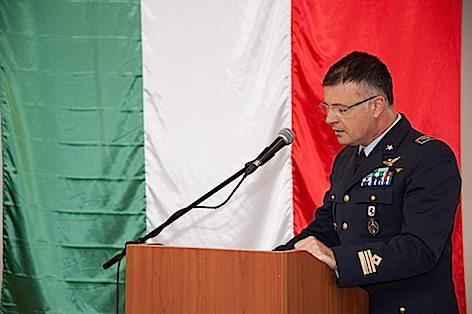 Un momento dell'intervento del Tenente Colonnello D Antonio