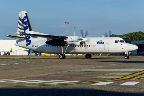 Il FOkker 50 della VLM Airlines (foto VLM)