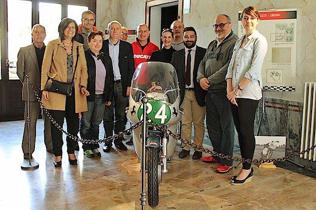Visita di Livio Lodi al Museo Baracca, 18 maggio 2016 (1)