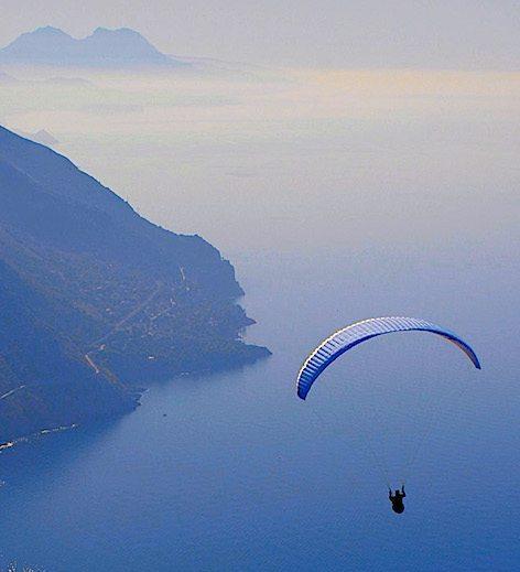 IN volo sul mare di Maratea