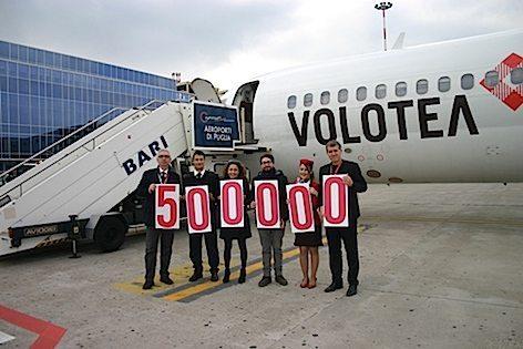 500mila passeggeri per VOLOTEA (foto Aeroporti di Puglia)