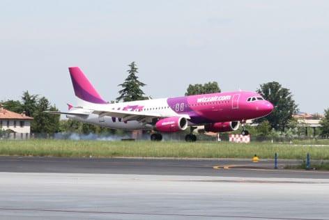 L'Airbus A320 da 180 posti della WizzAir (foto WizzAir)