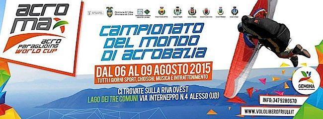La locandiana di Acromax, il  Campionato del Mondo di Parapendio