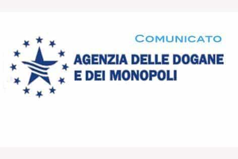 agenzia dogane monopoli comunicato logo