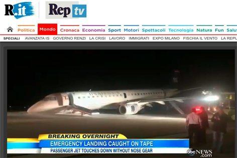 """Il video dell """"abc News"""" riportato da """"Repubblica TV"""""""