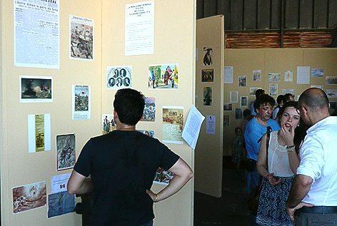 La mostra delle cartoline e documento dell'epoca (foto Baldi)
